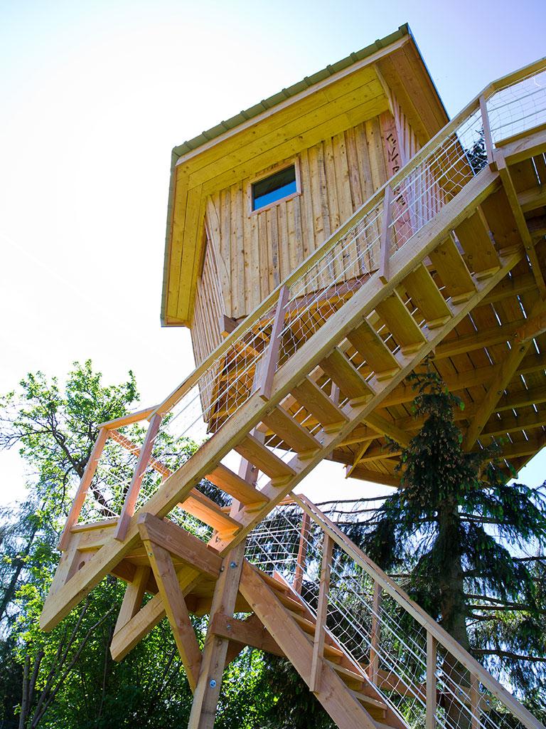Cabane dans les arbres à plus de 6 mètres (Chêne, Douglas et Sapin)